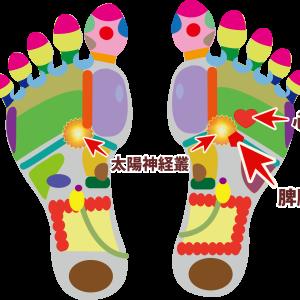 立ちくらみや貧血の時におすすめの 足の反射区