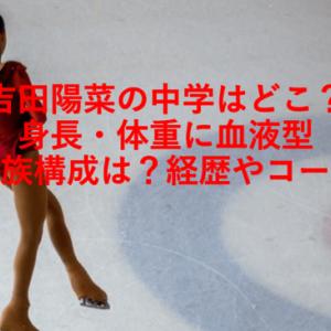吉田陽菜の中学はどこ?身長・体重に血液型や家族構成は?経歴やコーチ
