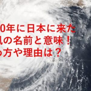 2020年に日本に来た台風の名前と意味!決め方や理由は?