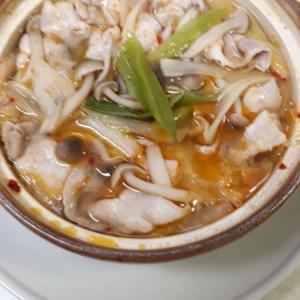 11月5日の夜ご飯ーピリ辛鍋