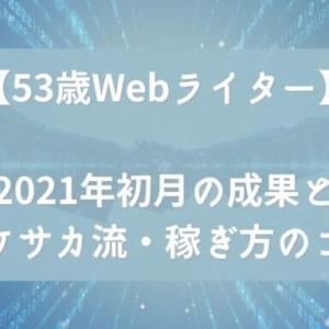 【53歳Webライター】2021年初月の成果とサケサカ流・稼ぎ方のコツ