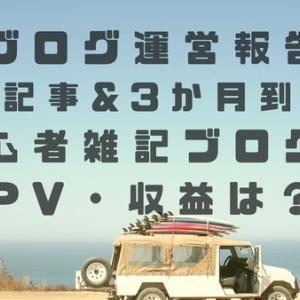 【運営報告】50記事&3か月到達!初心者雑記ブログのPV・収益は?