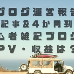 【運営報告】60記事&4か月到達!初心者雑記ブログのPV・収益は?