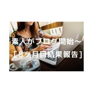 素人がブログ開始~[8ヶ月目結果報告]