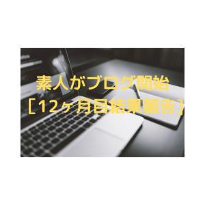 素人がブログ開始~[12ヶ月目結果報告]