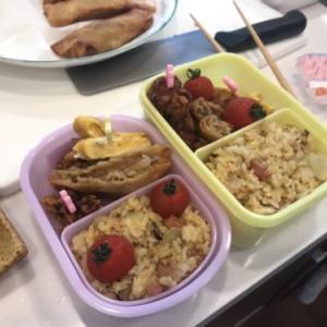 【夏休み】娘と父でお弁当を作りました。