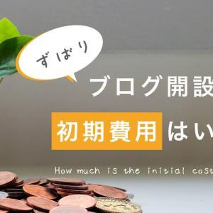【入門】ブログの初期費用っていくら?【低コストで始められます】