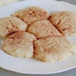 電子レンジで作る小麦粉とパン粉のクッキー