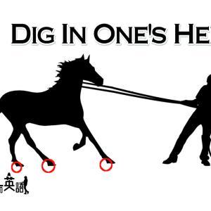 洋書に出てくる英語表現0095:dig in one's heels【フレーズ編78】