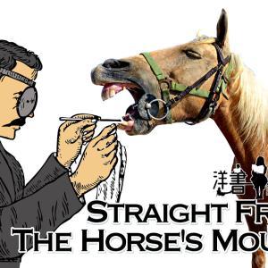 洋書に出てくる英語表現0097:straight from the horse's mouth【フレーズ編80】