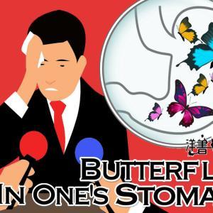 洋書に出てくる英語表現0125:butterflies in one's stomach【おすすめ英語フレーズ編108】