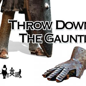 洋書に出てくる英語表現0131:throw down the gauntlet【おすすめ英語フレーズ編114】
