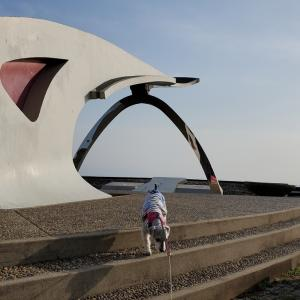 ❝愛宕山・地球の丸く見える丘展望館❞ 愛犬とおでかけ-千葉県観光🎵  2021年3月19日④