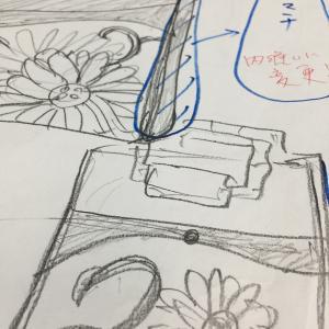 帯からのリメイクバッグ菊文様編