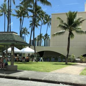 ハワイ失業保険コールセンターへの電話と青空