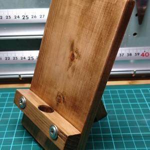 DIY 端材・切れ端を利用 簡単スマホスタンド