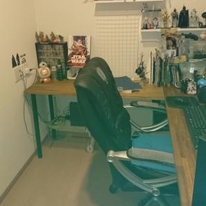 L字型PCデスクをDIY 書斎の模様替え~4