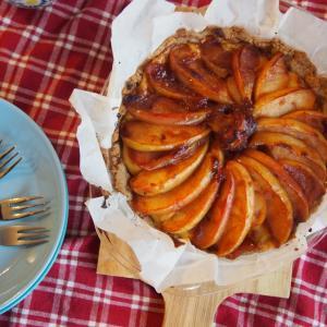 シナモンりんごのカスタードタルト◎白崎裕子さんレシピのタルト台が簡単で美味しくて最高!