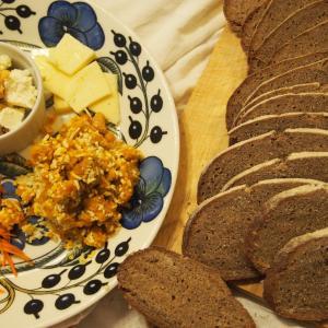 ライ麦90%◆Zopfのレシピでベーマーバルトブロート焼いてみた◎ワインや食事に合わせるパン
