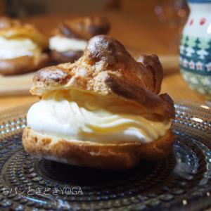 石窯ドーム自動モードのシュークリームがおいしかった話…と、鍋焼きちぎりクリームパン