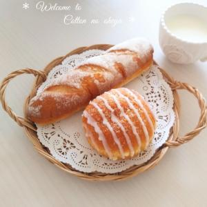 *セブンイレブンのパンで朝ごはん*