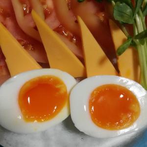 肉じゃが と 半熟卵