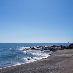 須賀無田海岸(夕陽を撮る計算)