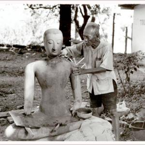 828 一枚の写真 _153 仏像造り