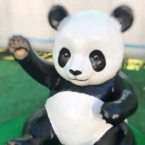 双子の赤ちゃん誕生に沸き、パンダが街のあちこちに★