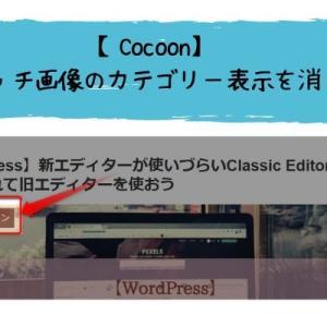 【Cocoon】アイキャッチ画像のカテゴリー表示を消したい!