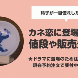 【カネ恋・豆皿】主人公の玲子が⼀⽬惚れした豆皿の値段や販売先は?
