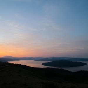 美幌峠から朝陽が昇る写真!
