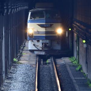 地下鉄のようなトンネルを走るEF66