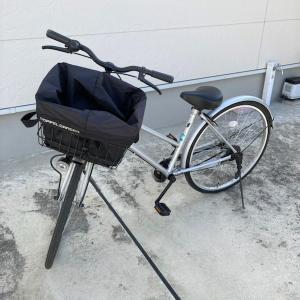 自転車での買い物に便利なカゴバッグを使っています