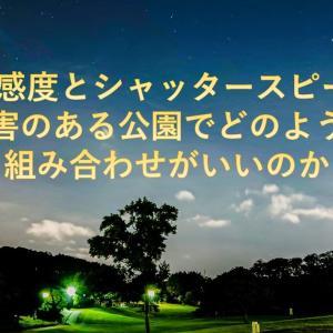 星空をスマホで撮影しよう~ISOとシャッタースピードの関係・光害のある公園編