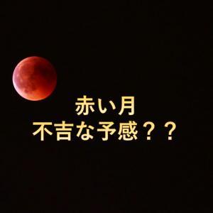 月が赤い~不吉な前兆なの?