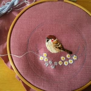刺繍はじめました
