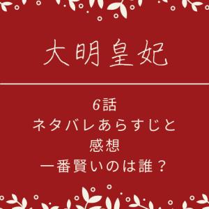 大明皇妃6話あらすじネタバレと感想!一番賢いのは誰?
