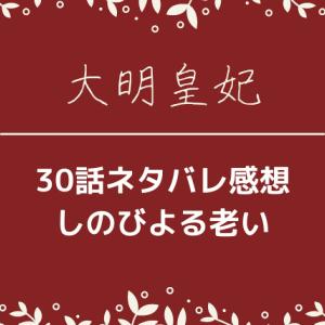 大明皇妃30話ネタバレあらすじと感想!しのびよる老い