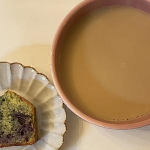 ブルーベリージャムを使って米粉のパウンドケーキを作りました