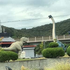 こんな所に恐竜!!