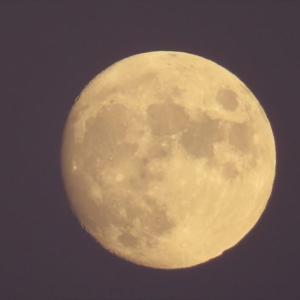 ベランダからお月様^^