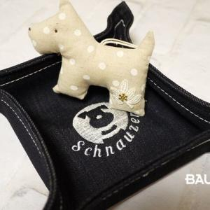 ★BAUdogsオリジナル★刺繍入りデニム小物入れが可愛い♪♪