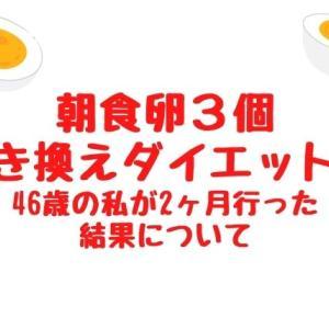 朝食を卵3個に置き換えるダイエット!46歳の私が2ヶ月行った結果について