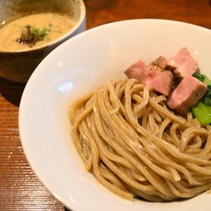 岡山市北区中山下のキノコつけ麺(麺酒一照庵)