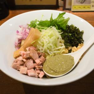 岡山市北区中山下の牡蠣の油そば(麺酒 一照庵)