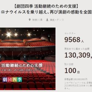 【劇団四季】 クラウドファンディング 期限100日を残し1億3千万円を突破!