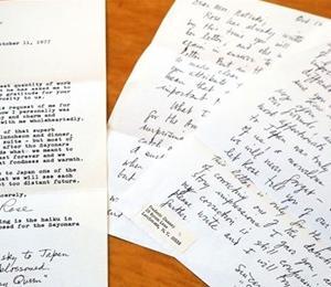 エラリー・クイーンから夏樹静子さんへの手紙発見:西日本新聞