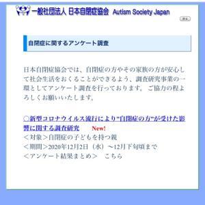 *日本自閉症協会からのアンケート*