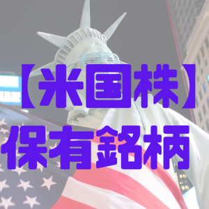 【米国株】保有銘柄と方針 参考にしている人